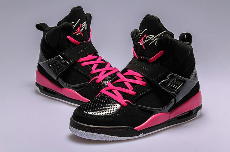 air jordan flight 45 femme noir rose