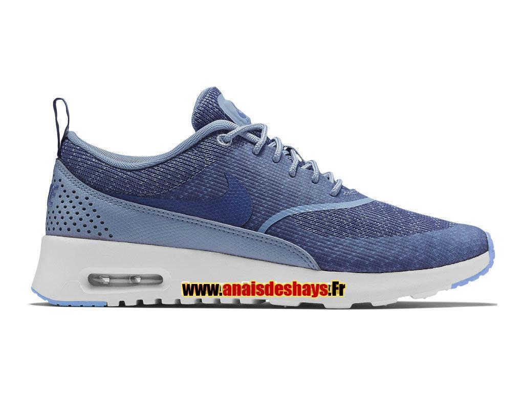 Bleu Foncé Vert Blanc Homme Nike Air Max Thea Knit Jacquard
