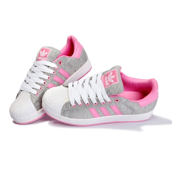 chaussure adidas rose et blanche