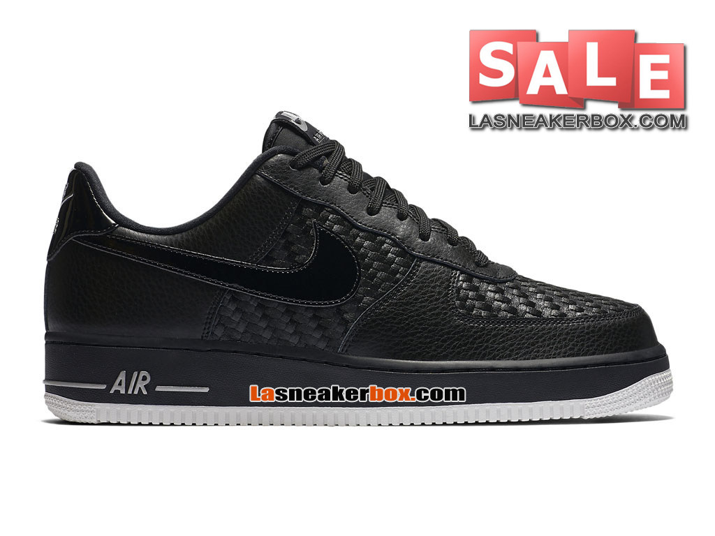 2014 Homme Noir Rouge Impression Chaussure Air Force One