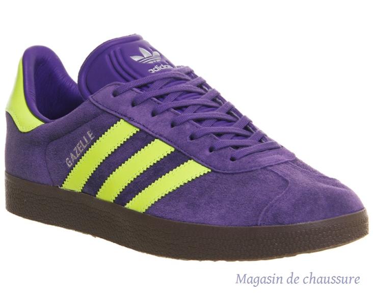 adidas gazelle violette et jaune